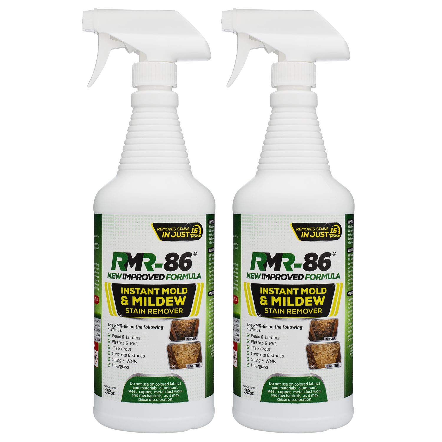 RMR-86 Instant Mold Stain and Mildew Stain Remover (32 Ounce) 2 Pack by RMR Brands