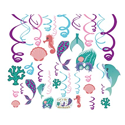 Amazoncom Cc Home Mermaid Party Decorationmermaid Under The Sea