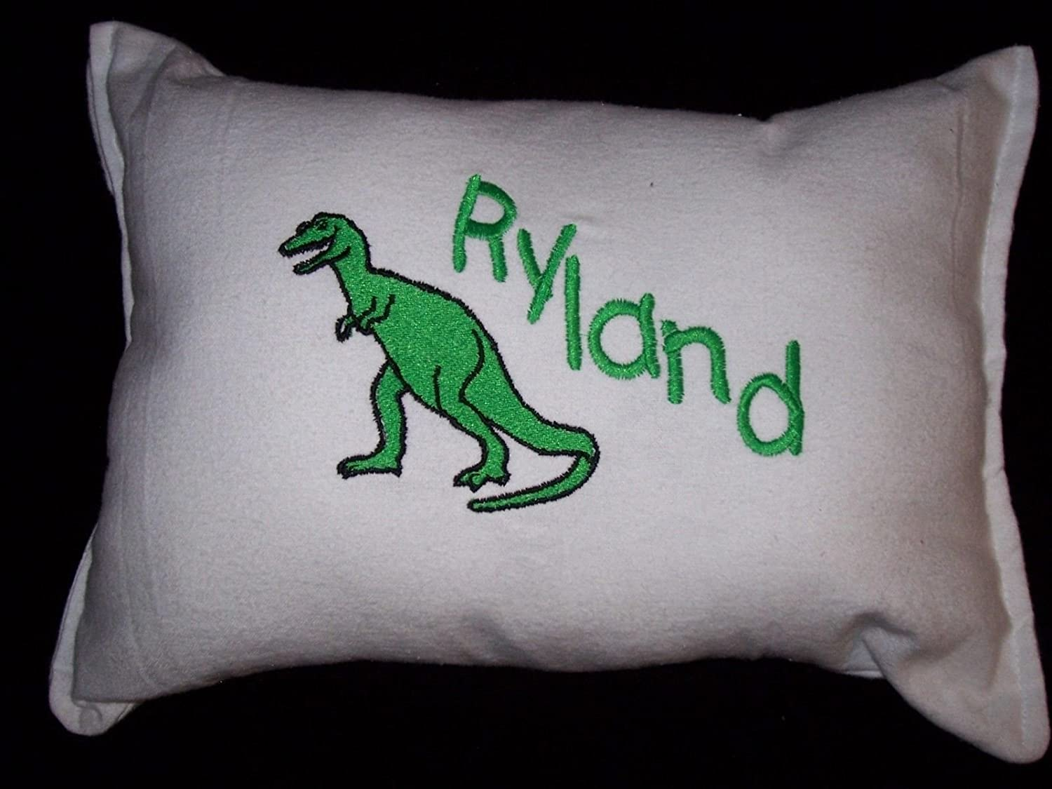 Toddler Cuddle Pillow Personalized Dinosaur T-Rex and Name