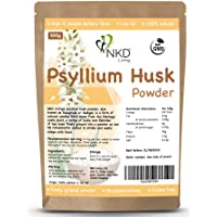 Psyllium Husk Powder by NKD Living (500g)   Tested for Heavy Metals, Micro-Organisms and Over 500 Pesticides (500g)