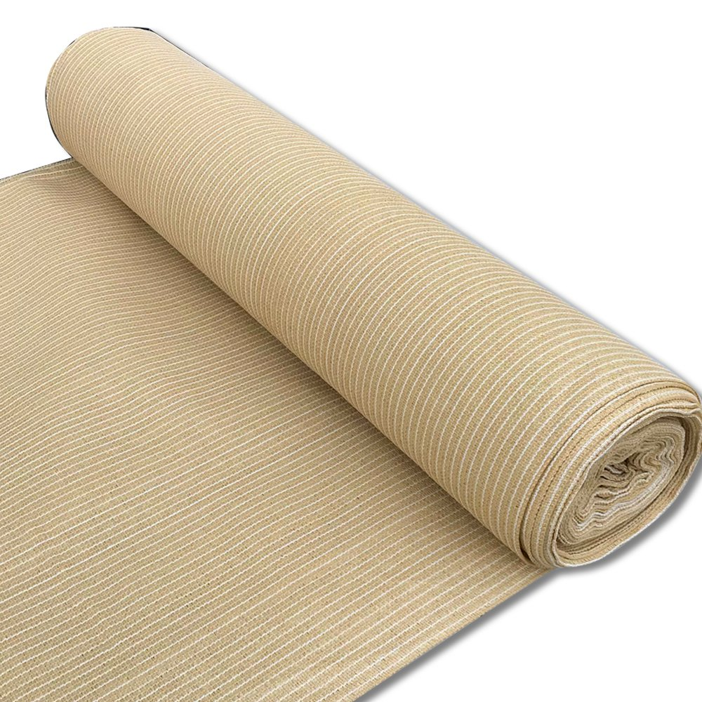 Alion Home 180 GSM Sunblock Shade Fabric Roll, 95% UV Block Breathable Mesh for Patio, Pergola, Greenhouse, Barn (12' x 50', Beige)
