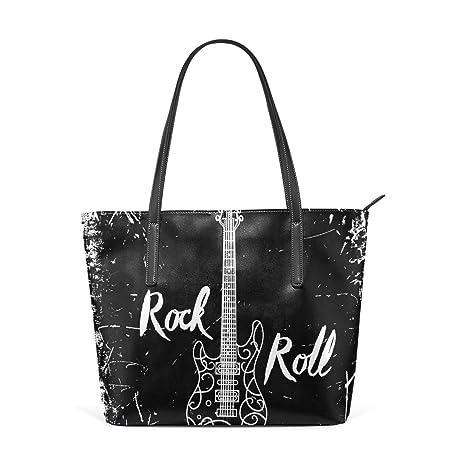 COOSUN Guitarra eléctrica y las letras rollo de la roca en el fondo del Grunge del
