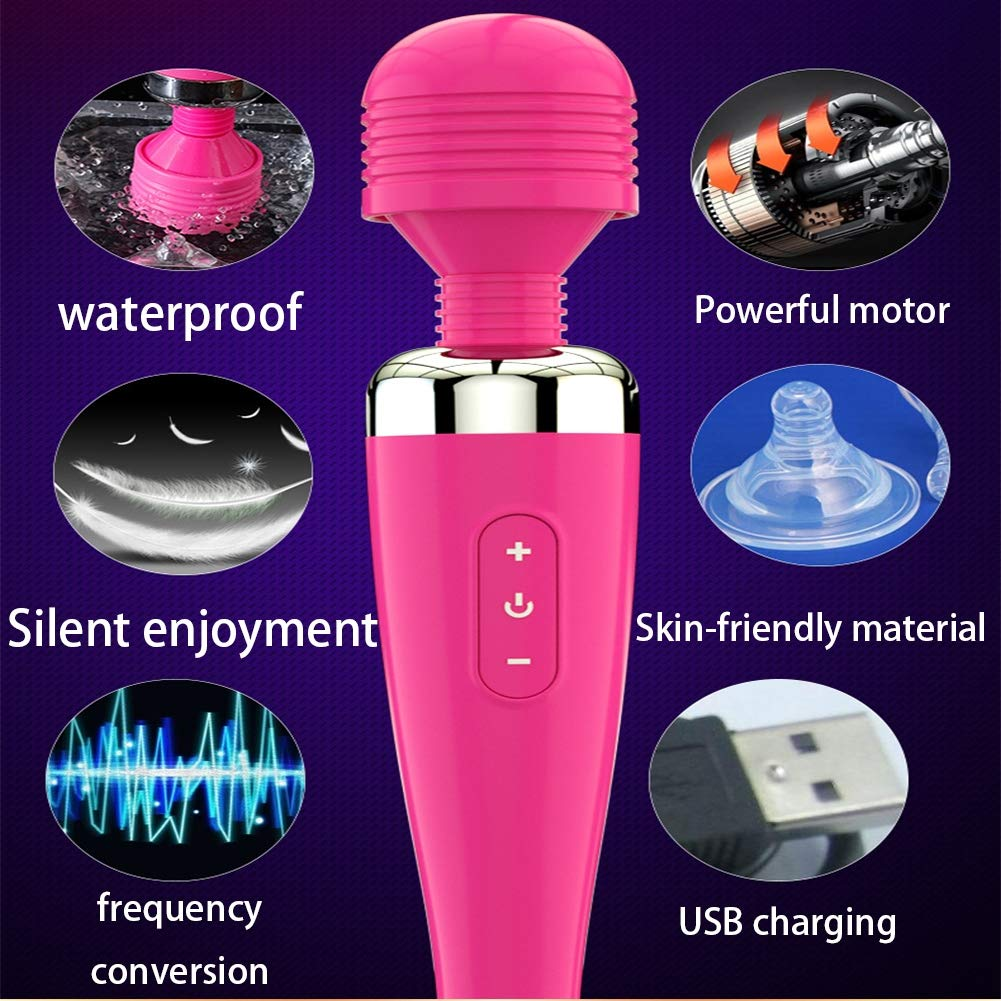 G punto masaje Stick-AV vibración masaje Stick adulto diversión masturbación masturbación diversión suministros hembra ametralladora carga USB,Pink b8f30f