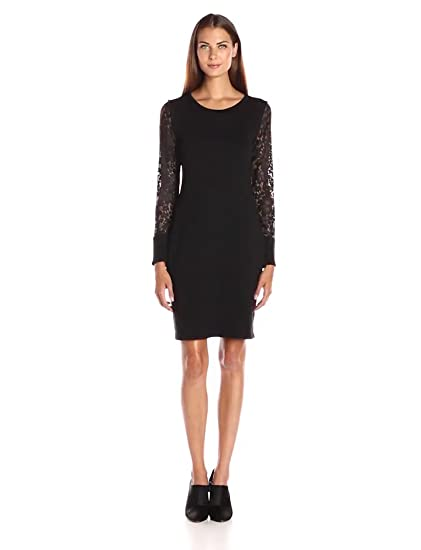 Amazon Calvin Klein Womens Lace Sleeve Sweater Dress Clothing