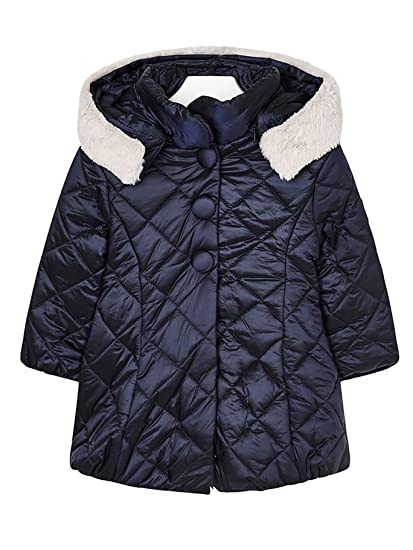 Mayoral 18-04424-034 - Padded Coat for Girls 2 Years Navy