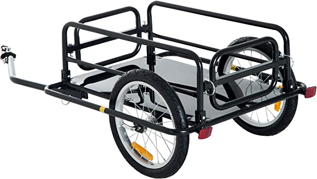 PawHut Remolque de Bicicleta para Carga 50kg Carga de Equipaje ...