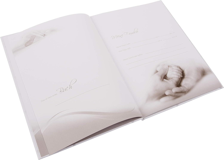 24 319 25 x 25 cm Goldbuch Baby-Fotoalbum Pergamin-Trennbl/ätter Hello I am New here Kunstdruck 60 Seiten Wei/ß//Gold
