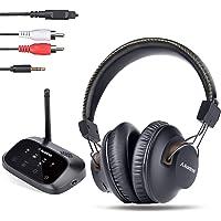 Avantree HT5009 Hohe Reichweite Funkkopfhörer für Fernseher mit Bluetooth Transmitter (Optical RCA AUX), TV schauen mit Headset & kabelgebundenen Lautsprechern gleichzeitig, Plug & Play, 40 Std. Akku