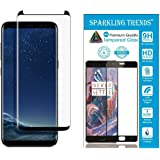 SPARKLING TRENDS 6.2-inch 3D Tempered Glass for Samsung Galaxy S8 Plus (Black)