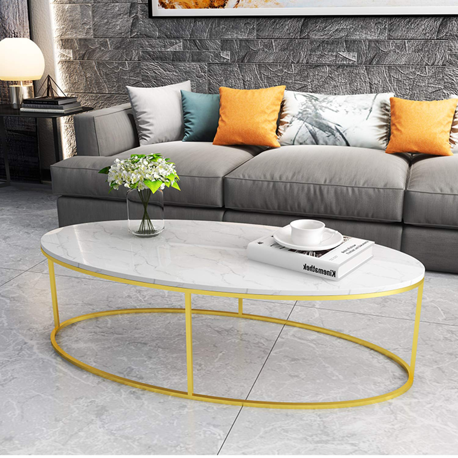 Amazon.com: Nordic Marble Coffee Table, Simple Modern Living ...