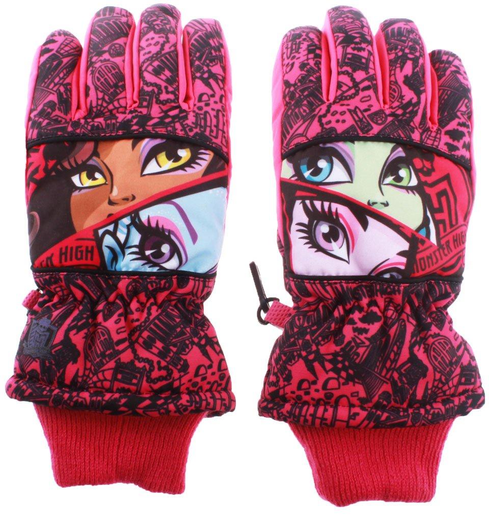 Skihandschuhe Kinder Mädchen Monster High Dunkelrosa 11/12ans