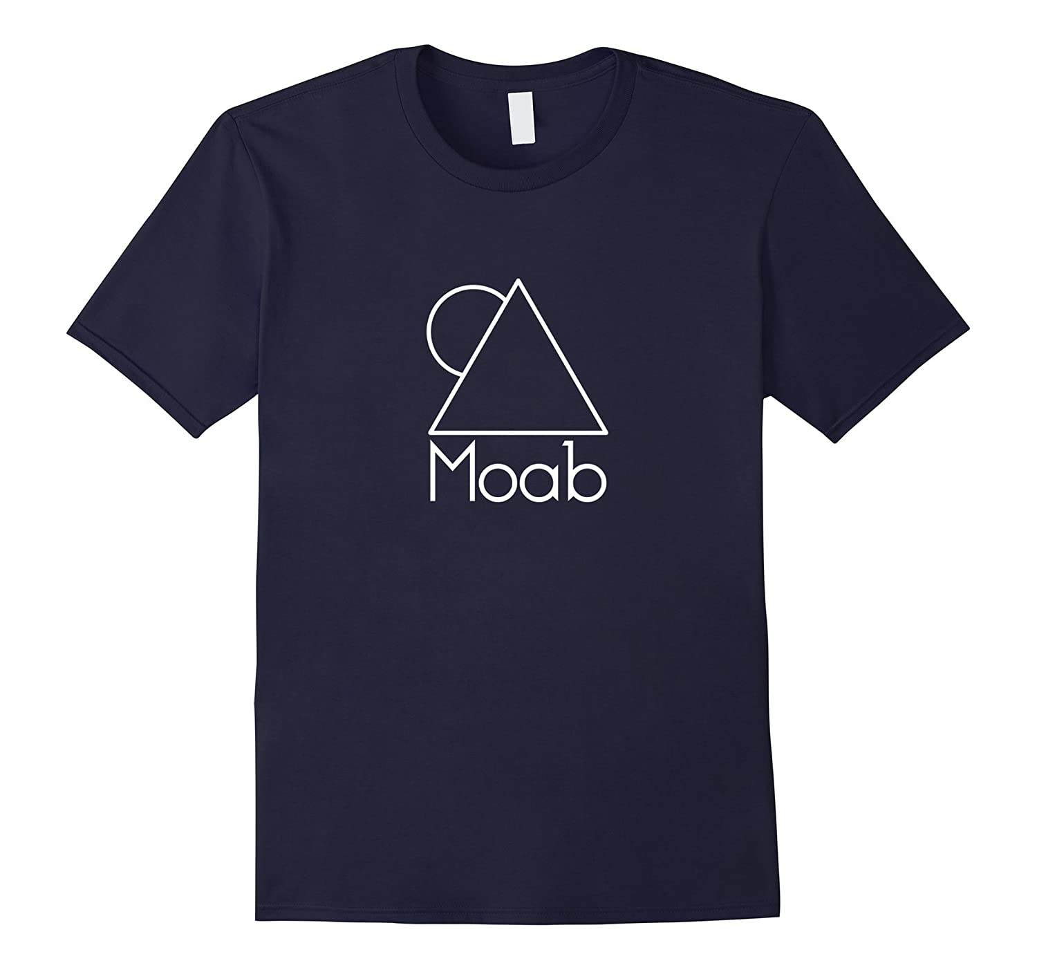 Moab Utah - White Minimal Mountain and Sun T-Shirt-TH