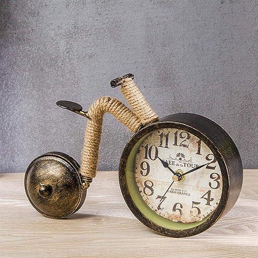 TtKjRetro Reloj de Mesa de Hierro Creativo cáñamo Reloj decoración ...