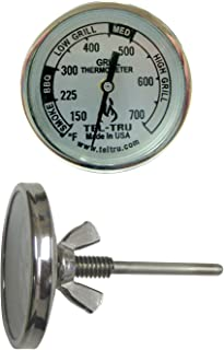 product image for Tel-Tru BQ100 Barbecue Grill Thermometer, 1-3/4 inch dial, 2.13 inch stem, 150/700 Degrees F