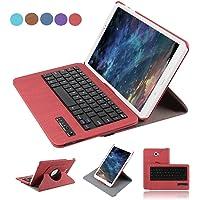 Dingrich Tab A 10.1 Tastiera Custodia in pelle PU Custodia con supporto per Samsung Galaxy Tab A 10.1 Inch Smart Cover