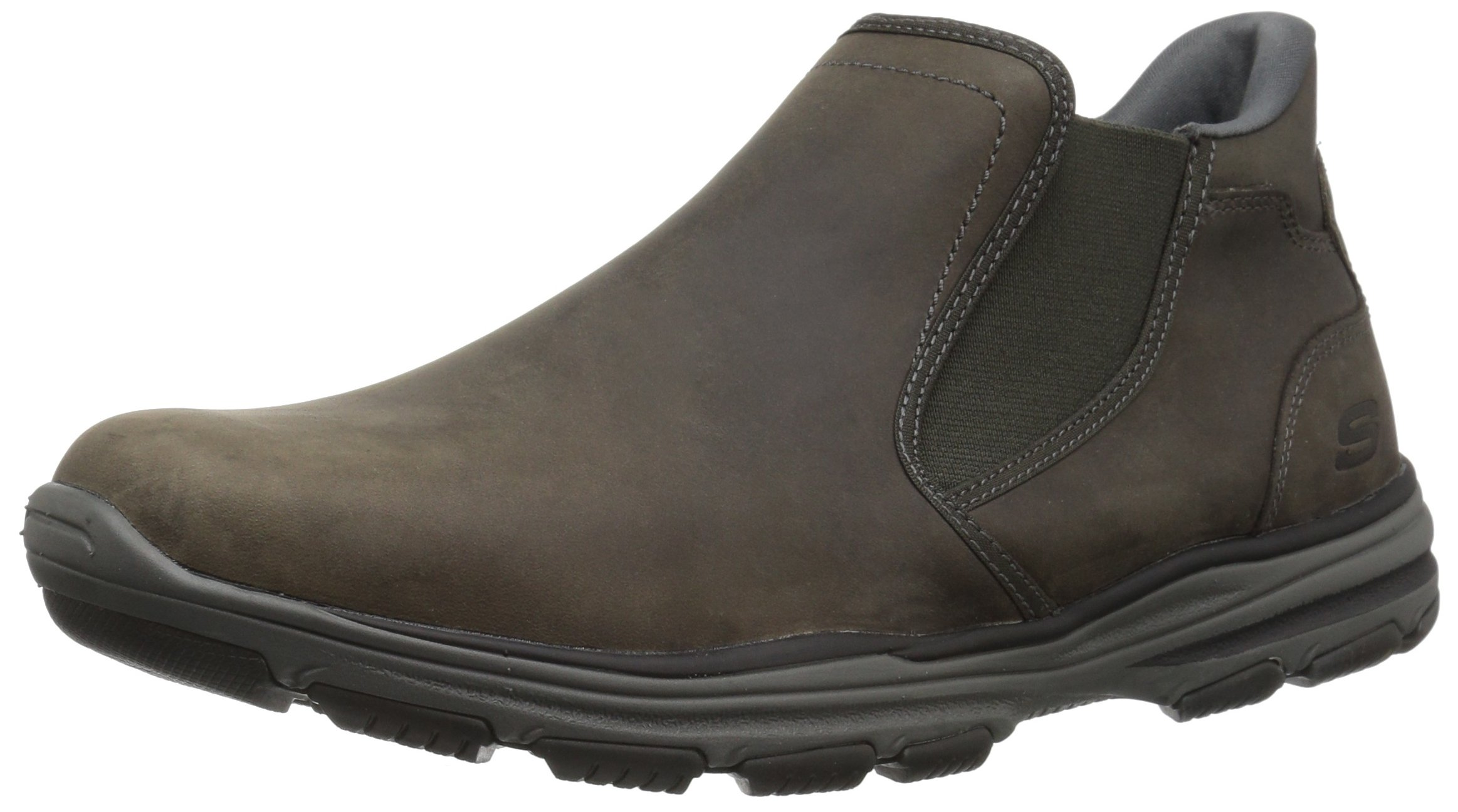 Skechers USA Men's Garton Keven Ankle Bootie,Charcoal,9.5 M US by Skechers