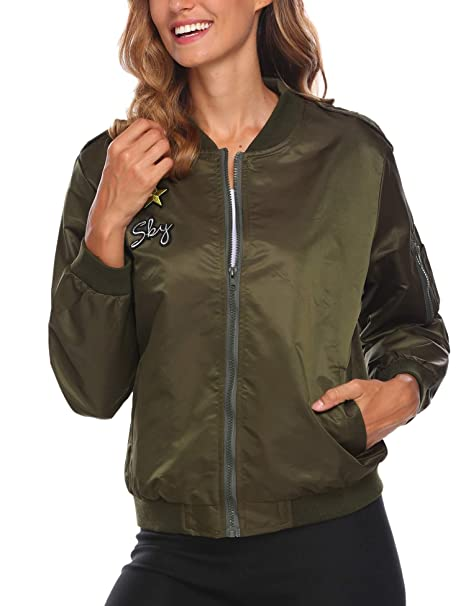 Amazon.com: ACEVOG - Chaqueta de chaqueta corta, diseño ...