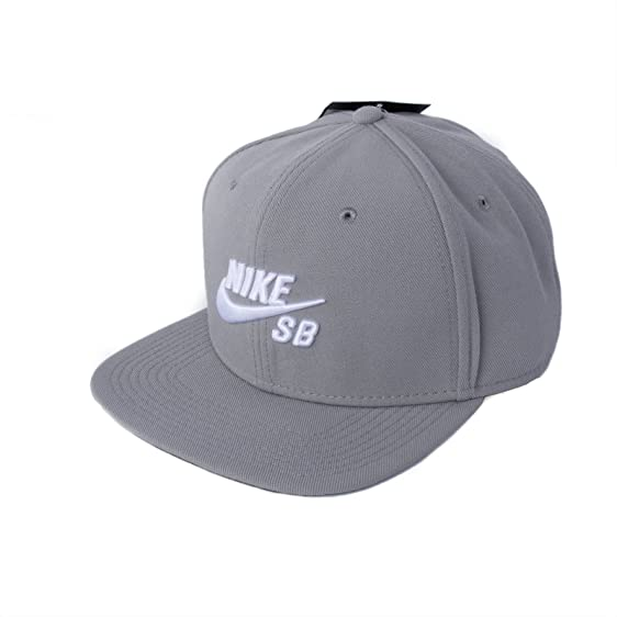 Nike Mens SB Icon Pro Snapback Hat Dust Grey/Black/White