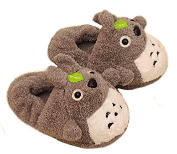 Sweettime(Tm) Totoro Warm Home Cartoon Plush Slippers Fashion Cotton Shoes (Bag With Padded Uk Size: