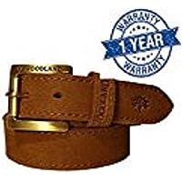 Woodland Men's Leather Belt (Camel, 36)