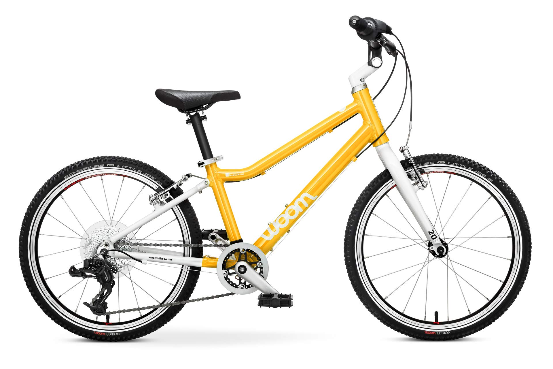 "woom 4 Pedal Bike 20"", 8-Speed, Ages 6 to 8 Years, Yellow"
