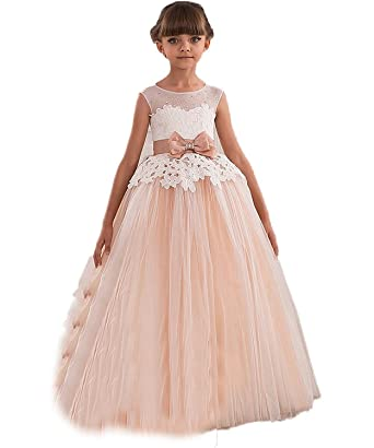 343498330c Sound of blossoming NND Flower Girl s Dress for Wedding First Communion  Dress CE2 Champagne