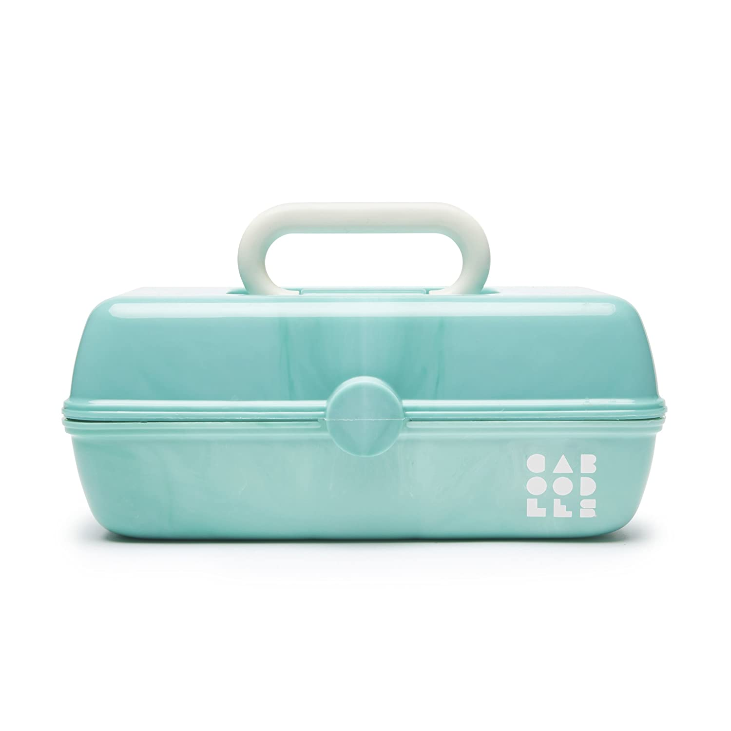 Caboodles Pretty in Petite Sea Foam Marble Vintage Case, 1 Pound