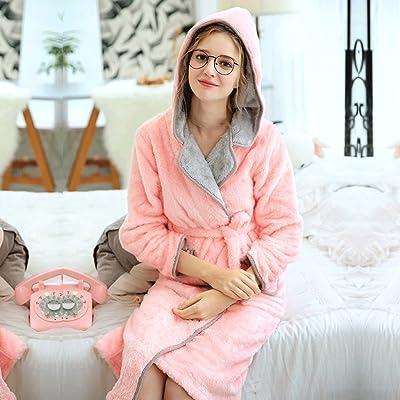 Automne Hiver Nouvelle Section Lady Pyjamas Épaississement Doux Peignoir Doux Maison Vêtements Sommeil Robe GAODUZI