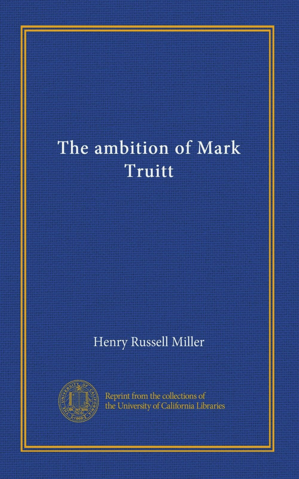 The ambition of Mark Truitt pdf