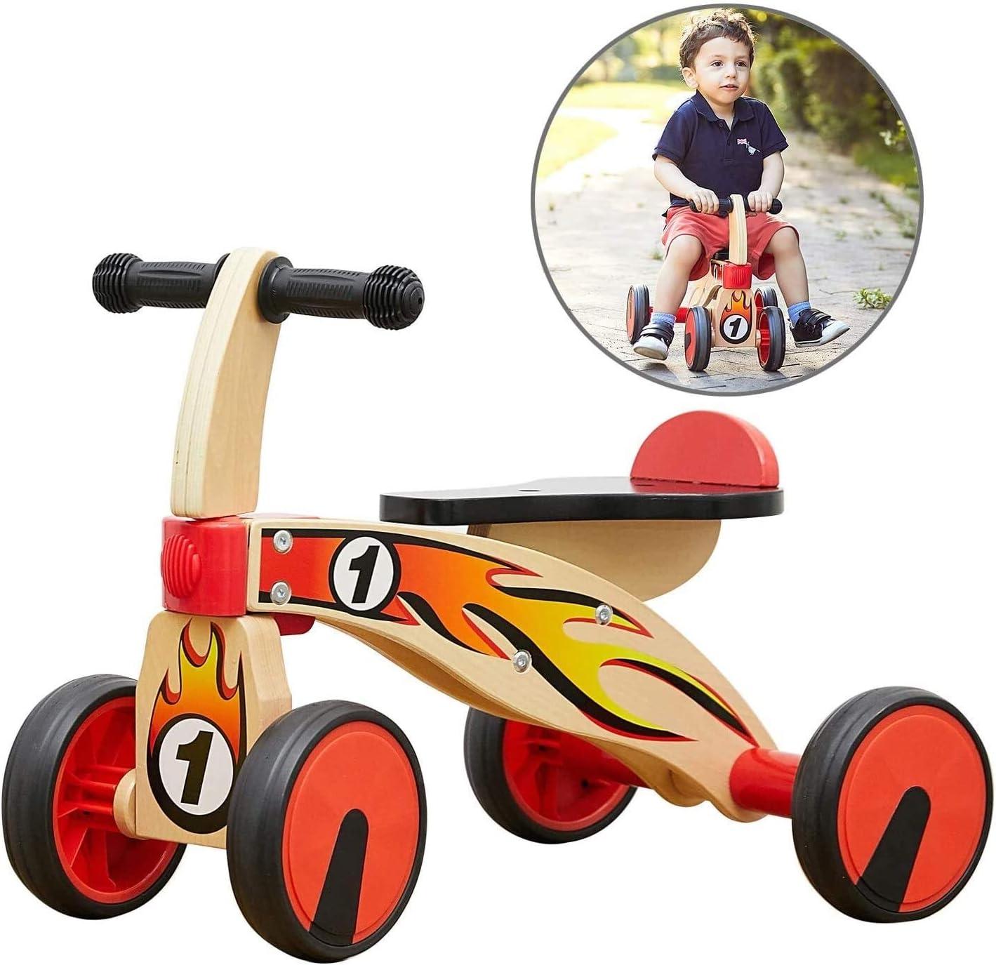 Juguetes for montar el triciclo del bebé de ciclomotores, bicicletas 1 año Ride On Trike juguete, niños pequeños Primera Triciclo de un año de edad, niños paseo juguete for Age 12 18 Meses con 4 rueda