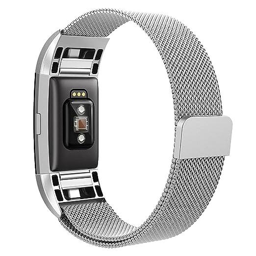 30 opinioni per Hanlesi Fitbit Charge 2 Cinturino di Ricambio, Bracciale in Acciaio Inossidabile
