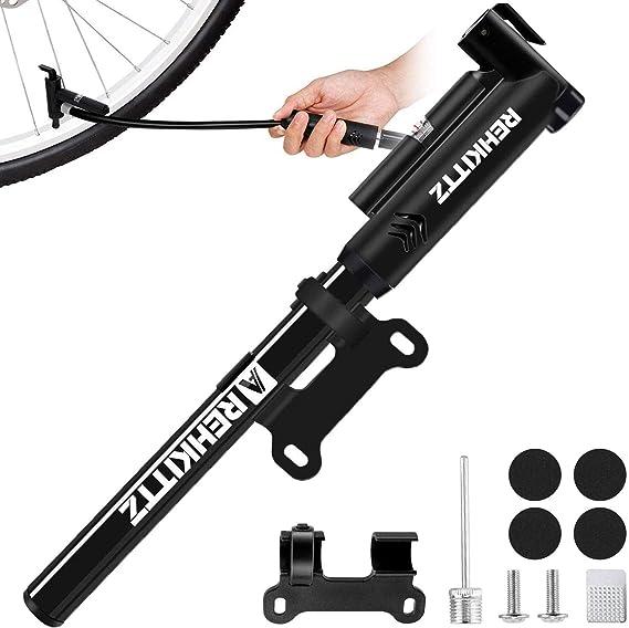 AMZOON Bomba Bicicletas Inflador Bici Adicional Manguera Mini Hinchador Bicis Bomba de Aire Bicicleta per BMX MTB Adaptador Válvulas Presta & Schrader: Amazon.es: Deportes y aire libre