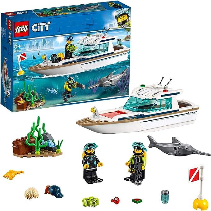 LEGO City Great Vehicles - Yate de Buceo, juguete creativo de ...