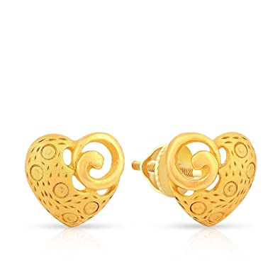 c836cdec8 Buy Malabar Gold and Diamonds 22KT Yellow Gold Stud Earrings for ...