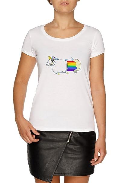 Jergley Unicornio Pedos Camiseta Blanco Mujer Tamaño XXL | WomenS White T-Shirt Size XXL