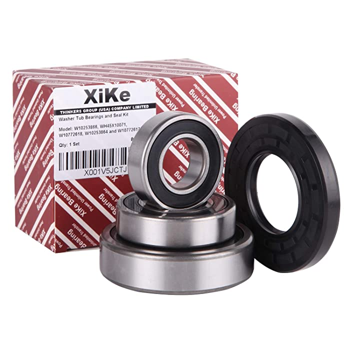 Front Load Washer Tub Bearing & Seal Kit W10253866, WH45X10071, W10772618, W10253864 and W10772617, Replacement for Whirlpool, Kenmore, GE, Maytag and KitchenAid Etc.