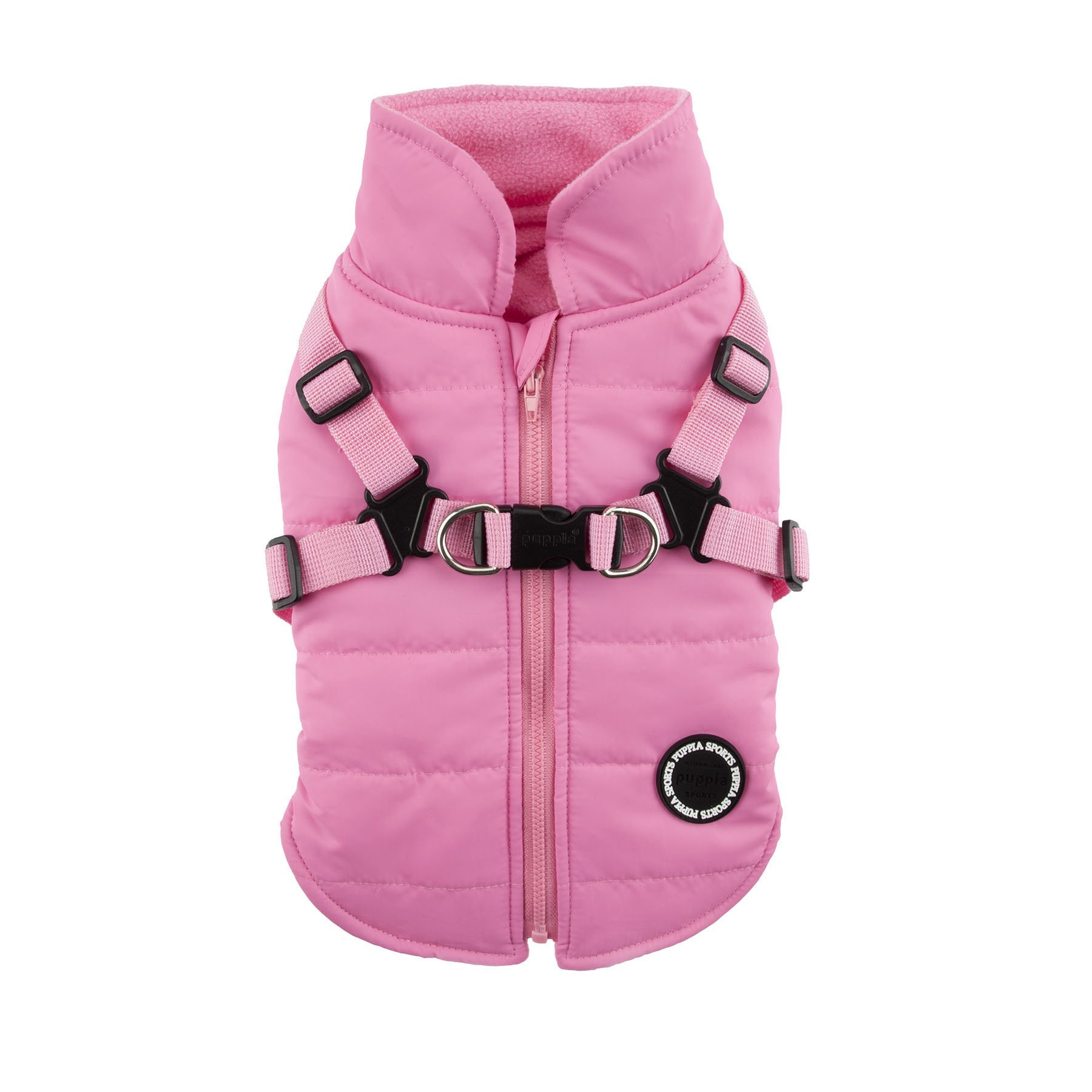 Puppia Authentic Mountaineer II Winter Vest, Medium, Pink