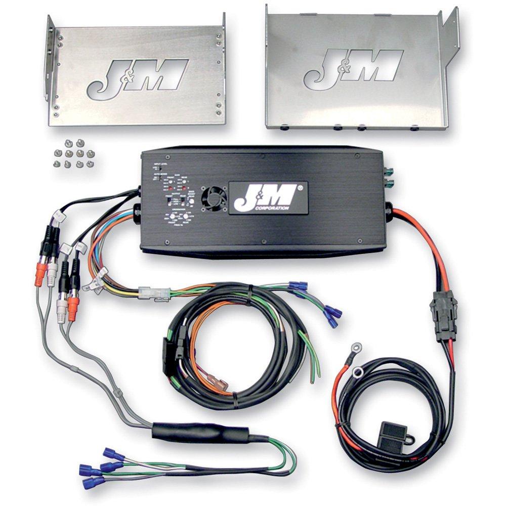 Amazon.com: J&M Audio 500 Watt 4 Channel Amp Kit with Rear Speaker ...