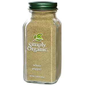 Simply Organic, White Pepper, 2.86 oz (81 g) Simply Organic, White Pepper, 2.86 oz (81 g) - 2pcs