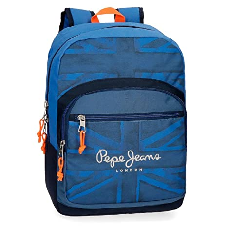 Pepe Jeans Fabio 60923B1 Mochila Escolar, 42 cm, 21.42 litros, Azul: Amazon.es: Equipaje