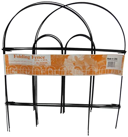 Amazon.com : Glamos 367779 Folding Metal Wire Garden Fence, 18-Inch ...