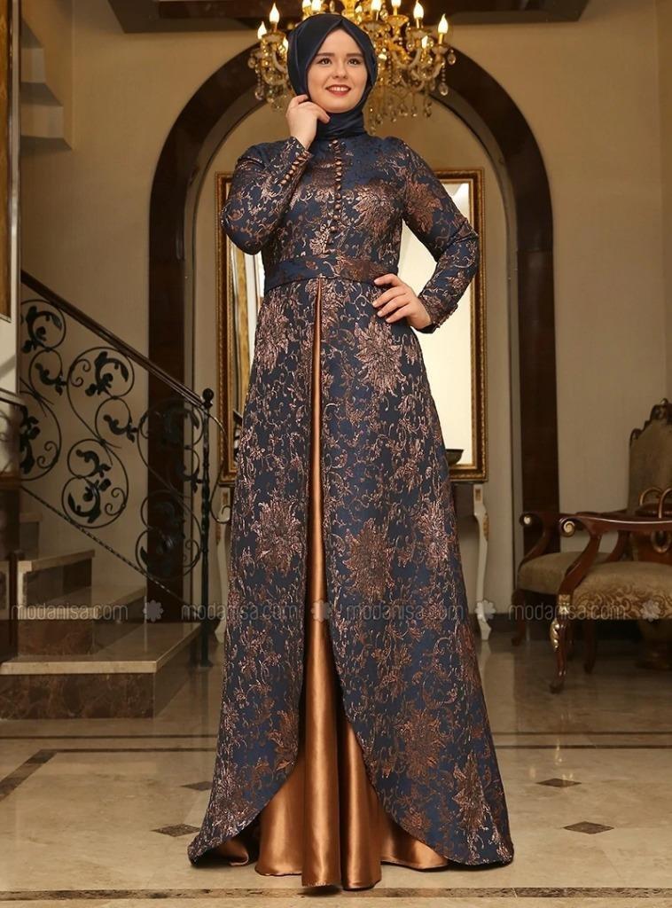 Silk Brocade Fabric Copper Color 58'' bro591[4] : Amazon.in: Home & Kitchen