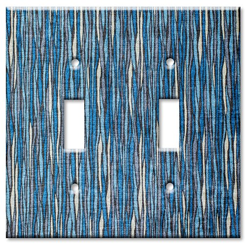 [Art Plates - Double Gang Toggle OVERSIZE Switch / Wall Plate - Blue River] (Oversize Light Switchplates)