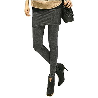 2f0a3cc58c 1 o 2 leggins con falda colores negro gris temporada mujer moda pantalón