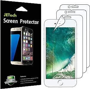 JETech Protector de Pantalla Compatible iPhone SE 2020, iPhone 8 y iPhone 7, PET, 3 Unidades