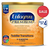美赞臣Enfagrow过渡阶段婴幼儿2段配方奶粉(适用年龄:9-18月) 20盎司(567g)/罐 (4罐装)(新老包装随机发货)