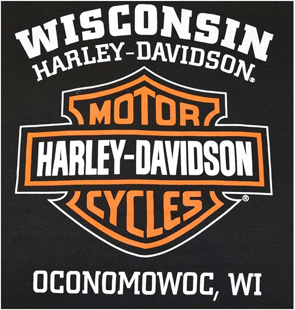 Harley-Davidson Mens Hooded Sweatshirt Bar /& Shield Zip Black Hoodie 30299142