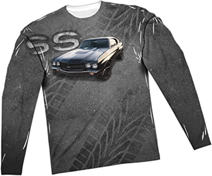 Muscle Chevelle Ss Adult Long Sleeve T-Shirt Chevy