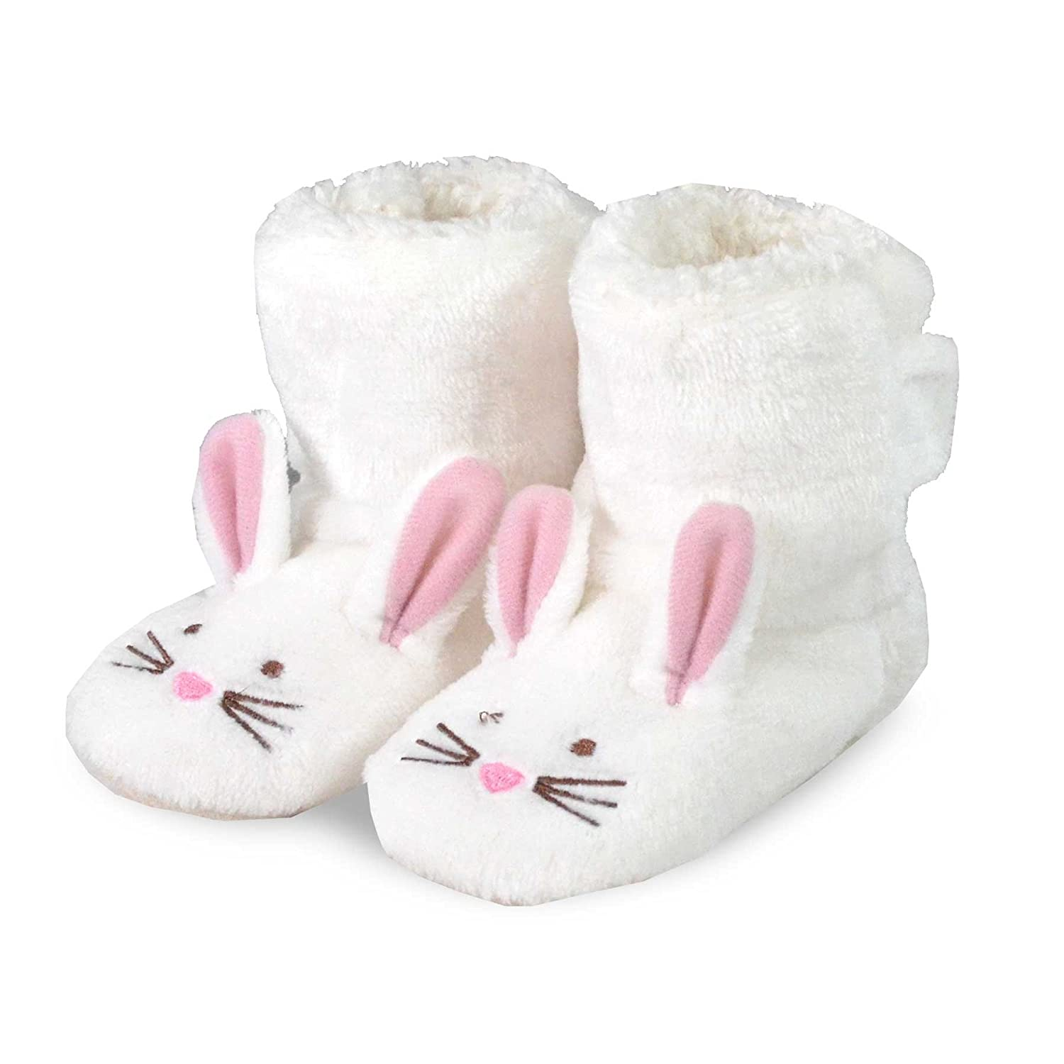 TeeHee Kids Fun and Cozy Rabit Fleece Booties for Infant Baby and Toddler Soxnet Inc