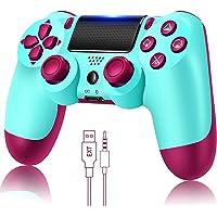 Controlador de jogo para PS4 sem fio Gamepad para PS4 / PS4 Pro / PC e laptop com vibração e função de áudio, mini…